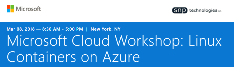 Microsoft Cloud Workshop: Linux Containers on Azure