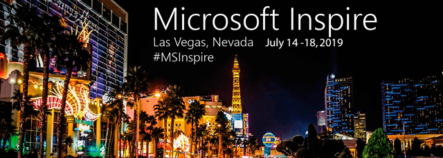 Microsoft Inspire 2019, July 14-18 in Las Vegas